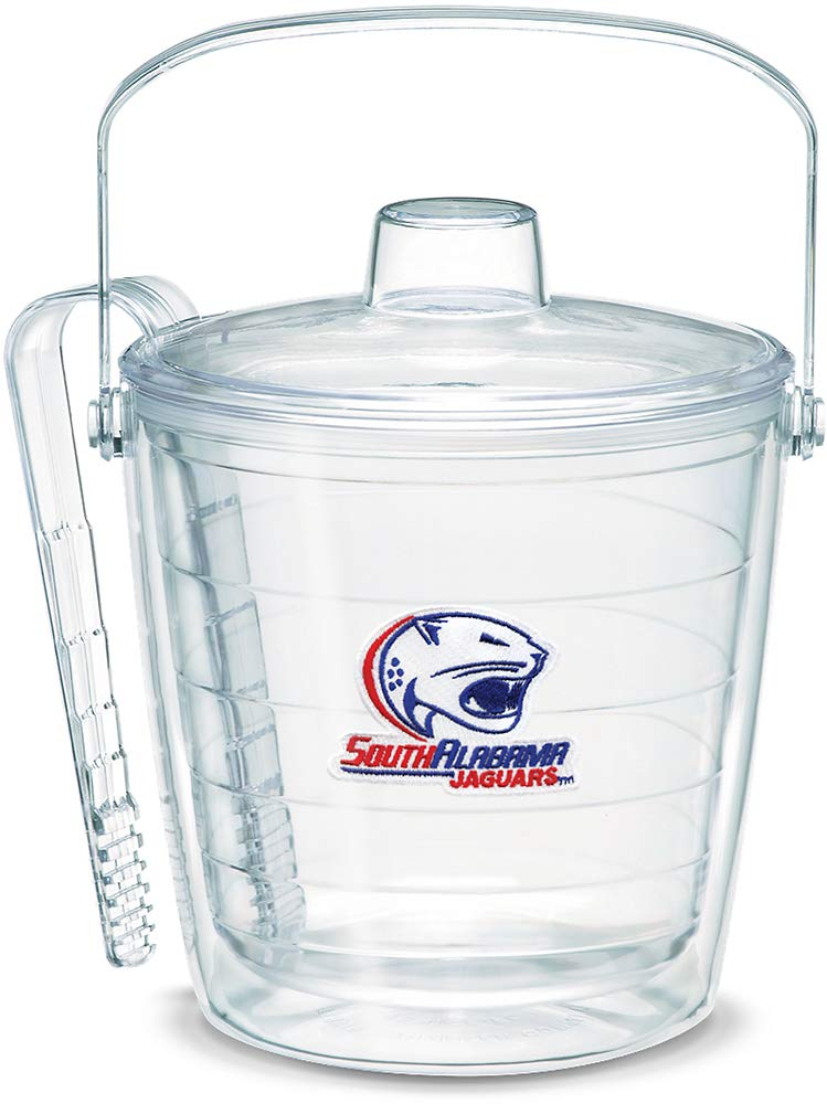 Tervis 1053507 South Alabama Jaguars Logo Ice Bucket with Emblem and Clear Lid 87oz Ice Bucket, Clear