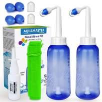 2PCS-Pack Sinus Rinse Kit - 2 Bottle+4 Sprayer - Neti Pot - Nose Cleaner - 10oz 300ml Nasal Wash Bottle with 2 Gift - Moisturizing Nasal Sprays+Storage Bag - for Adult Child Nose Clean Care