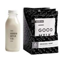 Goodmylk Co. - Organic Hemp Milk Concentrate Bundle (Bottle Included) - Make Fresh Hemp Milk At Home - Makes 6: 32oz Bottles - Organic, Non-GMO, Vegan, Ships Frozen, Long Shelf Life, Sustainable, Keto, Dairy Free, Store for 10+ months (Original + Bottle)