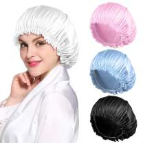 4PCS Satin Bonnet for Women Natural Curly Hair,C