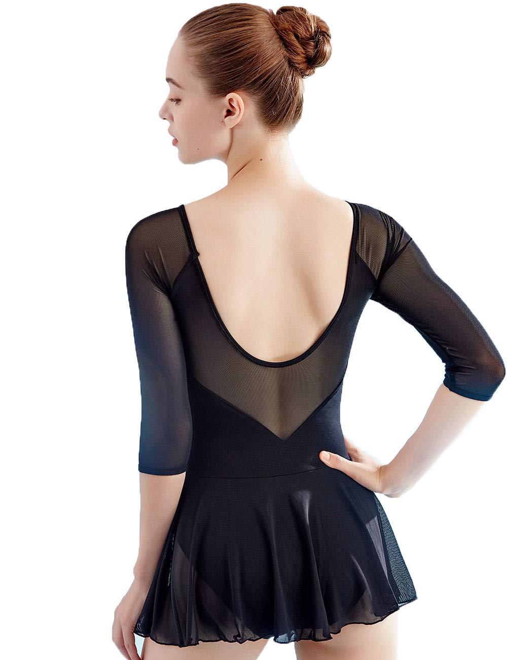 Women's Adult Skirted Leotards Dance Dress for Ballet, Aerobics