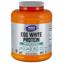 NOW Sports Nutrition, Egg White Protein, 16 G With BCAAs, Unflavored Powder, 5-Pound