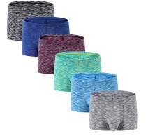 Men's No Ride up Boxer Briefs Underwear Trunks with Pouch