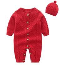 VISGOGO Newborn Baby Girls Boys Kid Solid Colour Bodysuit Sleeveless Romper Jumpsuit + Headband 2PCS Clothes Sets
