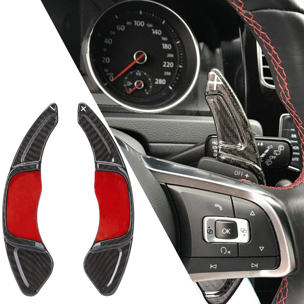 Kyostar Shift Paddle Car Shift Paddle Shift Extension Real Carbon Fiber for Golf 7 MK7 Scirocco Polo GTI