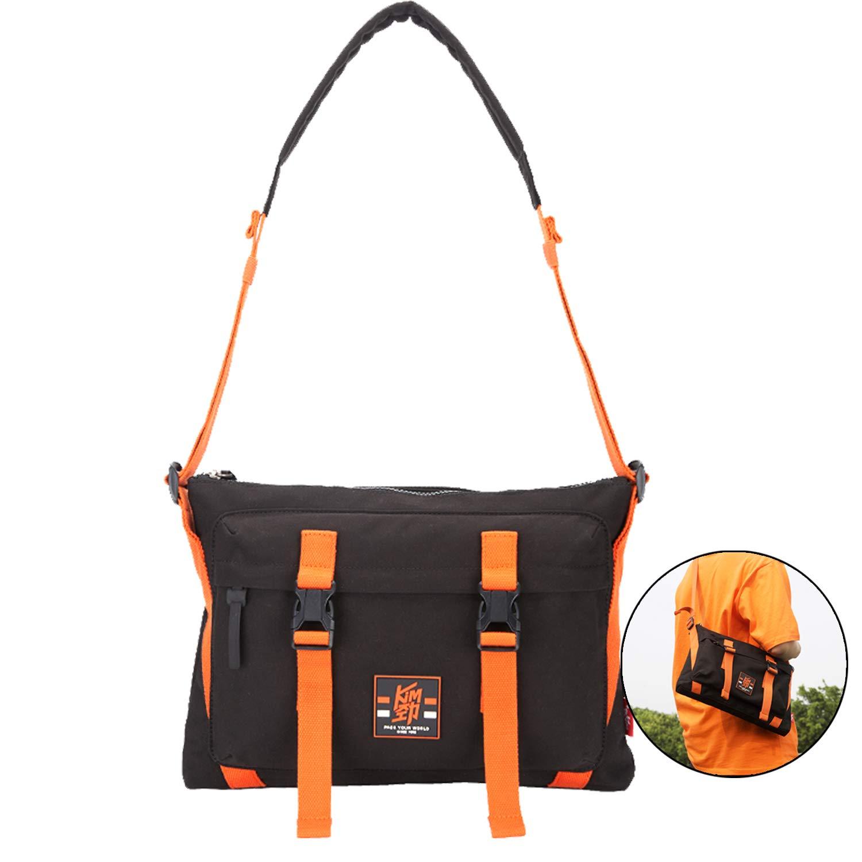OIWAS Kim Messenger Bag Leisure Canvas Water Resistant Shoulder Bag Satchel Briefcase Crossbody School Travel Bag for Student Women Men