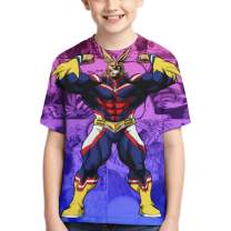 SHOEWPQIA Boys' My Hero Academia 3D T-Shirt Cosplay Costume Tees