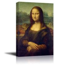 "wall26 - Mona Lisa by Da Vinci Famous Painting - Canvas Art Wall Decor - 12""x18"""