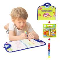 Jenilily Portable Water Drawing Mat Travel Toys Water Doodle Mat with Magic Pen Toys for Toddlers Kids