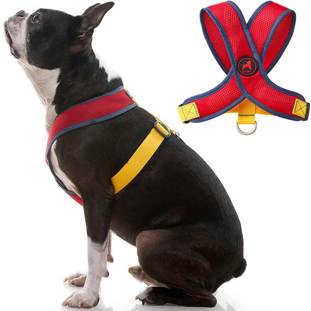 Gooby Dog Harness - Comfort X Head-in Small Dog Harness with Patented Choke-Free X Frame - Perfect on The Go No Pull Harness for Small Dogs or Cat Harness