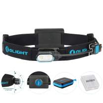 Olight Array Ultralight MCC Rechargeable Headlamp Flashlight Two Cool White LED 180 Degrees Head Rotation with Built-in Battery Pack and SKYBEN Battery Box (Array)