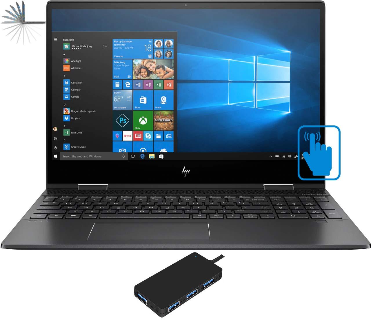 "HP Envy x360-15z Home and Business Laptop (AMD Ryzen 7 3700U 4-Core, 16GB RAM, 1TB SATA SSD, 15.6"" Touch Full HD (1920x1080), AMD Vega 10, Fingerprint, WiFi, Bluetooth, Webcam, Win 10 Pro)"