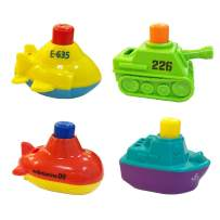 MOLICUI-Bath-Bathtub-Toys-Boats for Toddlers Squirts Floating Bath Tub Boats for Boys and Girls,4 Pack …