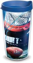 Tervis 1311815 NFL - Super Bowl 53 Insulated Tumbler with Wrap and Blue Lid, 16oz, Clear