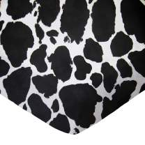 SheetWorld FLAT Crib / Toddler Sheet - Black Cow - Made In USA