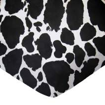 SheetWorld Fitted Pack N Play (Graco) Sheet - Black Cow - Made In USA