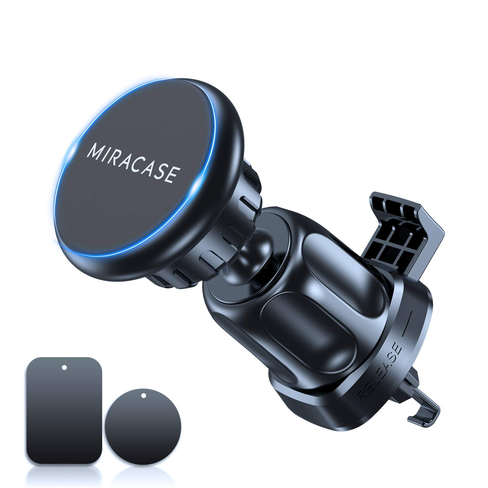 Miracase Magnetic Phone Holder for Car,2nd Generation Universal Hands Free Car Phone Mount, Air Vent Cell Phone Holder for All Phones