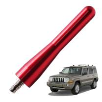 JAPower Replacement Antenna Compatible with Jeep Commander XK 2006-2010 | 3.2 inches-Red