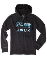 Life is Good Women's Go-to Zip Happy Hour Dot Hoodie