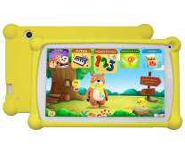 Kids Tablet, Enhance/Train Kid's Abilities and Develop Talents,120+ Spanish&English Educational Preloaded Apps, 7 Inch HD Display, 1+8G Android 6.0 Tablet-Yellow
