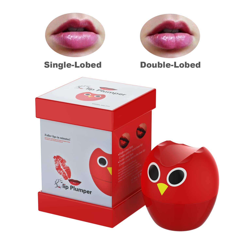 Lip Plumper Device,Lip Plumper Enhancer Lip Plumper Tool Suction Cup Mouth Lips Enlargement Tools Plumping Bigger Lips Device (Owl color)