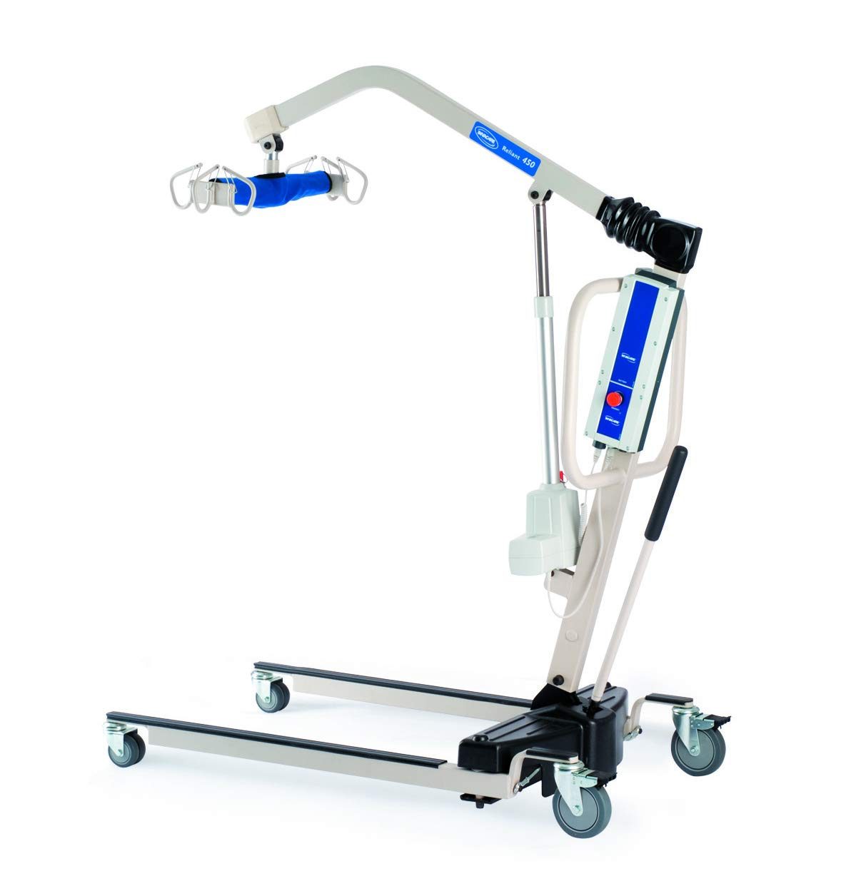 Invacare Reliant Battery-Powered Patient Lift with Manual Low Base, 450 lb. Weight Capacity, RPL450-1