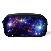LedBack 3D Galaxy Pencil Case for Boys Star Pen Holder with Zipper Children Back to School Big Capacity Pencil Pouch Student Sturdy Polyester Stationery Storage Bag
