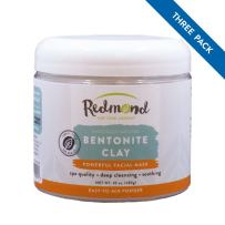 Redmond Clay - Bentonite Clay of 1000 Uses, Soothing Facial Mask, 10 Ounce (3 Pack)