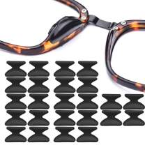 Silicone Eyeglass Nose Pads Adhesive Silicone Anti-Slip Nosepads for Eyeglass Sunglasses 12 Pairs 2.5mm Black