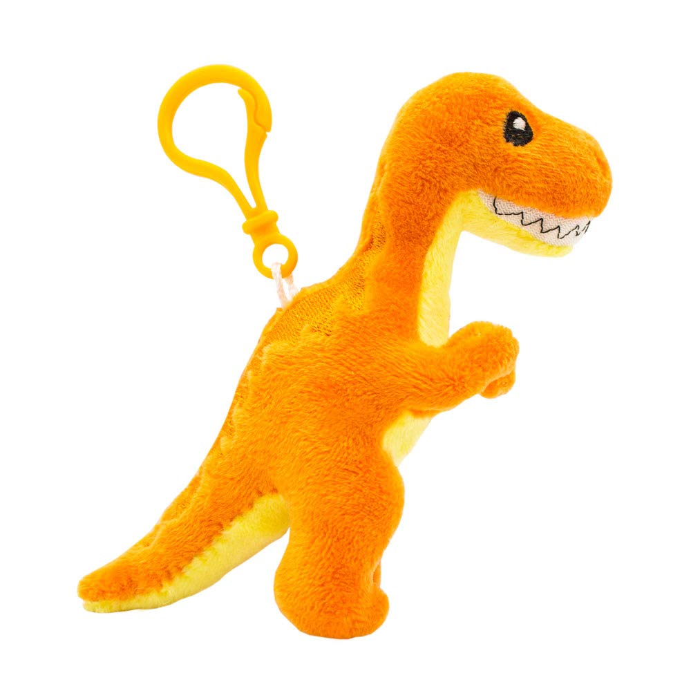 Scentco Dino Dudes Backpack Buddies - Scented Plush Dinosaur Clip, Stocking Stuffer - Orange T-Rex