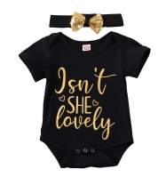 Daddy's Princess Outfit Infant Bodysuit & Headband Set Isn't She Lovely Romper Baby Girl Summer Princess Outfits