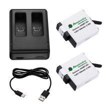 Powerextra 2 x Battery and Dual Charger Compatible with GoPro HERO (2018) GoPro HERO 7 Black GoPro HERO6 Black GoPro HERO5 Black (Compatible with Firmware v02.60, v02.51, v02.00, v01.57, v01.55, 1.60)