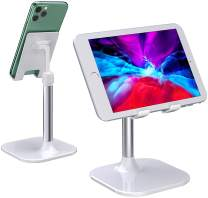 Cell Phone Stand, STOON Adjustable Tablet Stand for Desk, Portable Phone Holder Compatible with iPhone, iPad, Kindle, Mobile Phone, Tablet and More 4-9.7 inch Devices