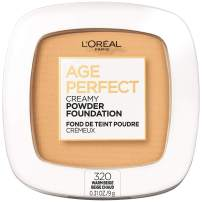 L'Oreal Paris Age Perfect Creamy Powder Foundation Compact, 320 Warm Beige, 0.31 Ounce