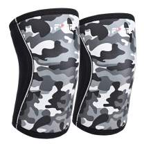 Knee Sleeves (1 Pair), 7mm Neoprene Compression for Powerlifting,Great Knee Braces Support for Cross Training, Weightlifting, Squats, Basketball (X-Large, Camo Gray)