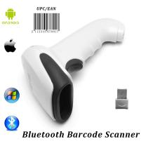 1D Bluetooth Barcode Scanner, MUNBYN 2 in 1 Wired & Wireless Laser Barcode Reader Compatible with Android iOS iPad Windows Mac System