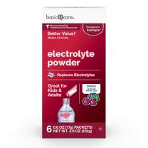 Basic Care Cherry Electrolyte Powder Packets, 6 Packets