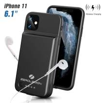"""ZEROLEMON iPhone 11 Battery Case, Wireless Charge + Headphone Support 4500mAh SlimJuicer Portable Protective Case, Compatible with iPhone 11 6.1""""/iPhone XR 6.1"""""""