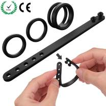 Allovers Penis Rings Set,Stretchy Erection Cock Rings for Men Longer Harder Erection Premature Ejaculation,Sex Rings for Couples