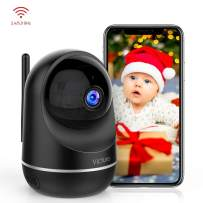 Victure Dualband 2.4Ghz and 5Ghz 1080P WiFi Camera Baby Monitor,FHD Wireless Security Camera with Motion Detection via IPC360 Pro, Pan Tilt, 2-Way Audio, Night Vision