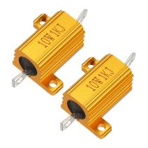 uxcell 2 Pcs Aluminum Case Resistor 10W 1K Ohm Wirewound for LED Converter with Rod Post 10W1KRJ