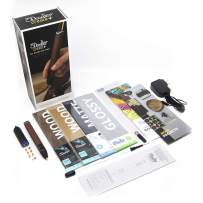 3Doodler Create+ 3D Printing Pen for Teens, Adults & Creators! - Full Grain Leather (2020 Model) - Deluxe Set with Free Refill Filament + 6 Nozzles + Mini Doodlepad