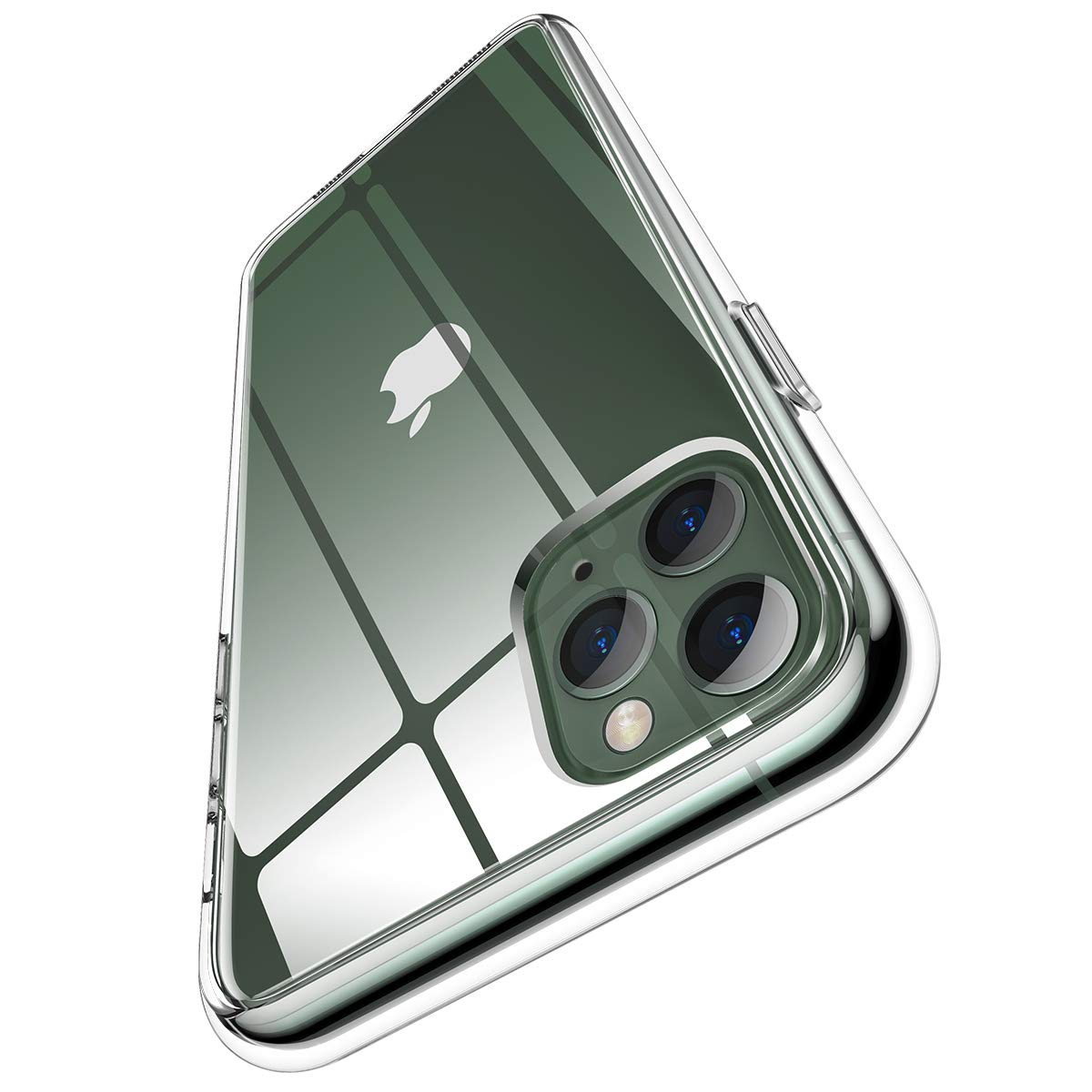 """Meifigno Natural Series iPhone 11 Pro Max Case, [Anti-Yellow], Clear Hard PC with Soft TPU Edges, Protective Case Designed for iPhone 11 Pro Max 6.5"""" (2019), Clear"""