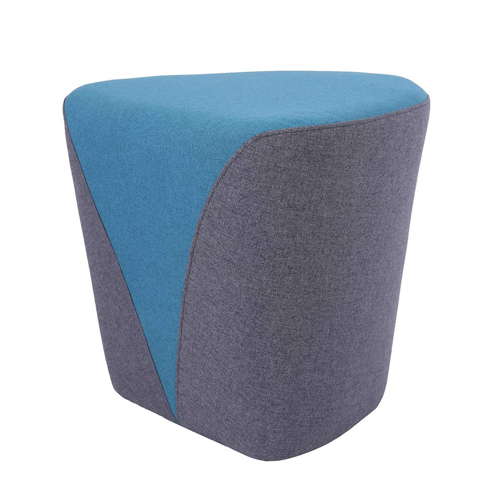 Sunon Heart Pouf Ottoman, 18.1L x17.7W x17H Upholstered Poofs Ottoman Stool, Matched Fabric Small Ottoman Foot Rest Nesting Stool (Blue)