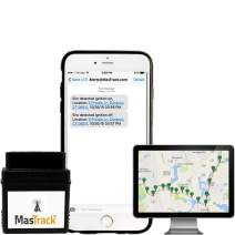 MasTrack- Premium Car GPS Tracker W/No Monthly Fee | Track On Computer Smartphone | Free 1 Year Premium Plan| Track Fleet Monitoring, Teens, Family| Plug to OBD Port for Alerts & Engine Diagnostics