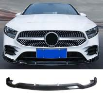 NINTE Front Lip for 2016-2019 W213 Benz E-Class Sport Models - ABS Painted Gloss Black B Style Front Bumper Spoiler - 3pcs