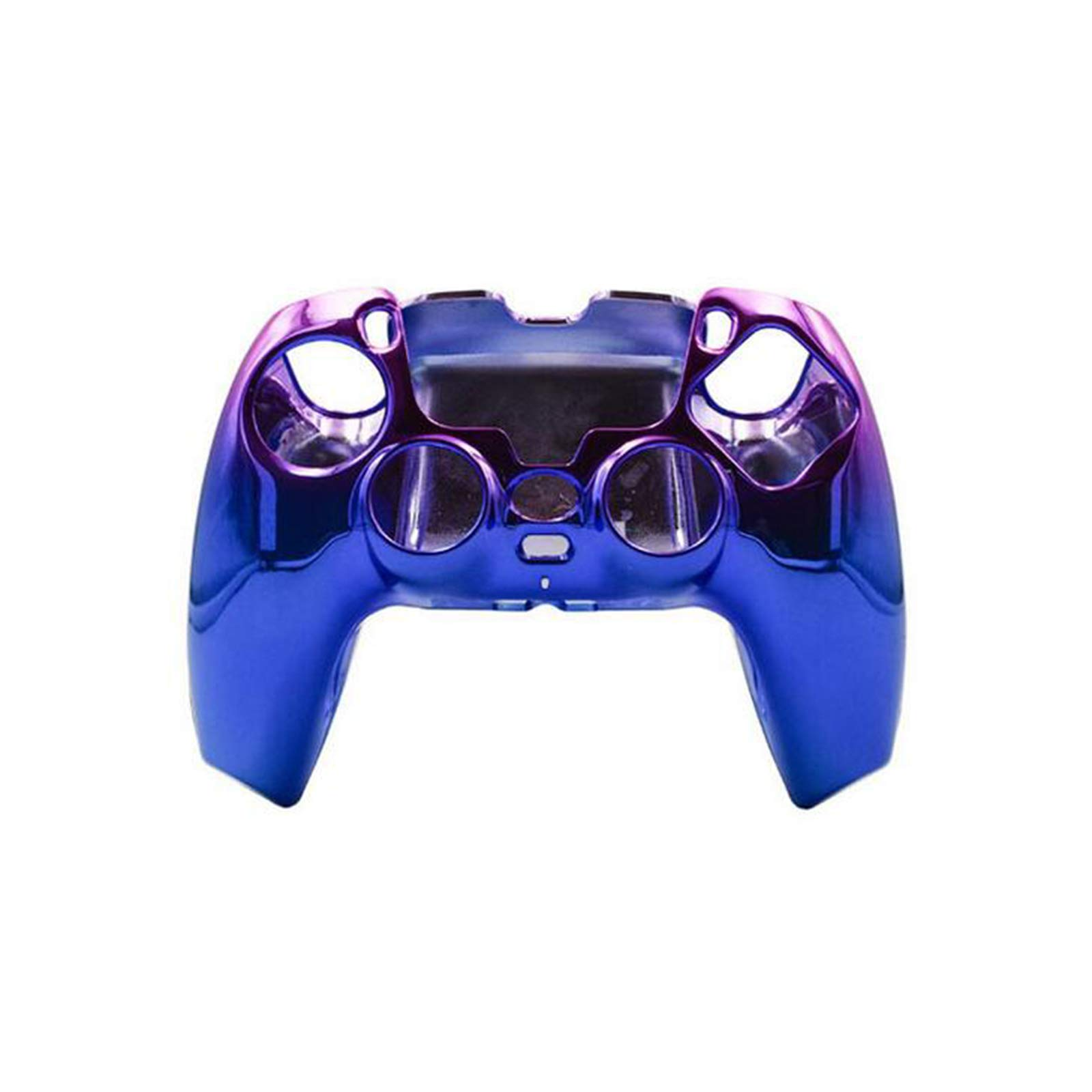 gotor Chrome Housing Shell Case Faceplate Cover for Playstation 5 PS5 Controller (Chrome Blue)