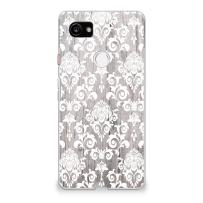 CasesByLorraine Google Pixel 2 XL Case, Wood Print Damask Floral Pattern Case Flexible TPU Soft Gel Protective Cover for Google Pixel 2 XL (2017) (G11)