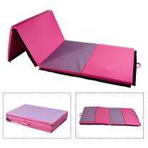 DOIT 4'x6'x2 Thick Folding Gymnastics Fitness Exercise Mat with Handles Home for Kids, Tumbling Traning Fitness Panel Gym Pad Multiple Color Choice No-Slip