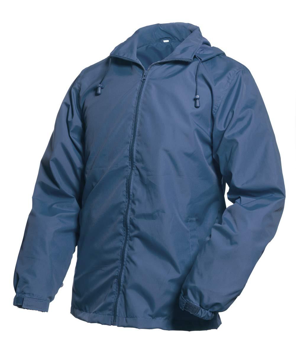 MADHERO Mens Lightweight Windbreaker Waterproof Rain Jacket with Removable Hood